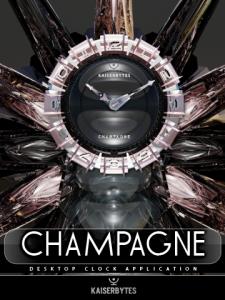 CHAMPAGNE desktop clock