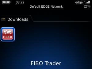 Fibo Trader for blackberry app Screenshot
