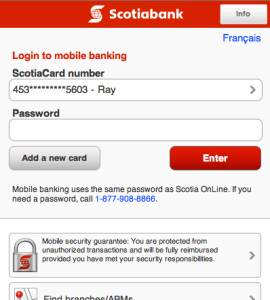 Scotiabank Mobile Banking Launcher for Blackberry Finance apps download