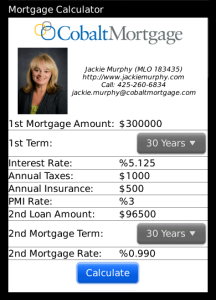 Jackie Murphy Mortgage Calculator for blackberry app Screenshot