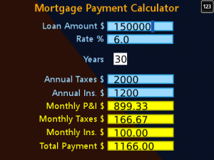 Mortgage Payment Calculator for blackberry app Screenshot