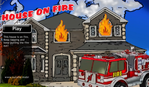 House on Fire Game for BlackBerry Playbook