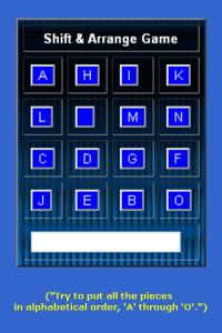 Shift and Arrange for blackberry game Screenshot