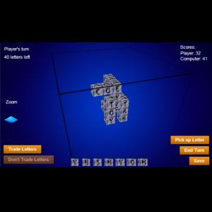 WordsCubed for blackberry game Screenshot