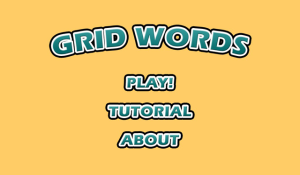 Grid Words for blackberry game Screenshot
