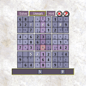 Sudoku for blackberry game Screenshot