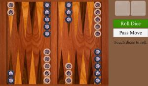 Backgammon for blackberry game Screenshot