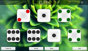 Dice for blackberry game Screenshot