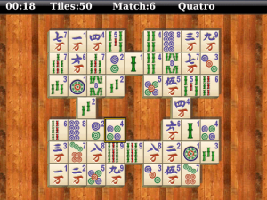Aces Mahjong for blackberry game Screenshot