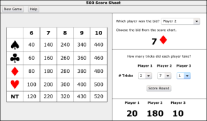 Wizard Card Game Score Sheet http://www.freeblackberryapp.com/games/cards-game/500-score-sheet/