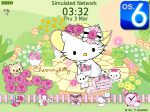Charmmy Kitty in Flower Garden Theme for OS 6.0.0