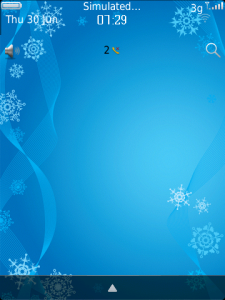 Winter Morning – Cool blue theme with OS 7 icons for