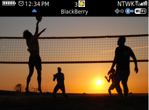 Beach Volleyball for os5 custom homescreen for Blackberry Themes