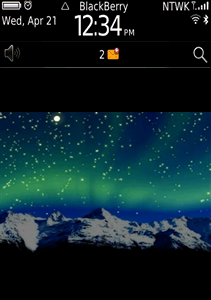 Northern Lights theme for blackberry