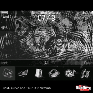 Silver and Black Funk Art Abstract Theme with Amazing White Aspect Icons