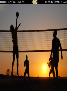 Beach Volleyball for BlackBerry Torch custom homescreen for