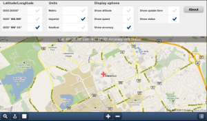 GPS Maps using Google Maps for blackberry app Screenshot