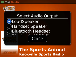 The Sports Animal WNML for blackberry