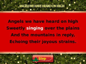Xmas Carol: Angels We Have Heard on High for blackberry