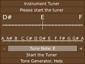 Mobile Chromatic Instrument Tuner For Guitar