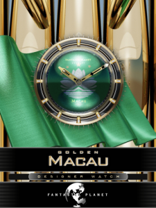 MACAU fascinating clock GOLD for blackberry Screenshot