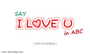Say I LOVE U in ABC