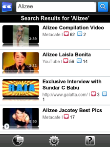Vuclip Video for blackberry Screenshot