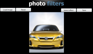 Photo Filters for BlackBerry PlayBook for blackberry Screenshot