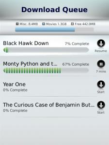 FiOS on Demand for blackberry Screenshot