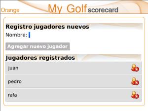 My Golf Scorecard