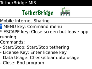 Tether Bridge for BlackBerryFree Trial + Tethering Like Modem